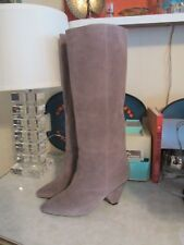Jeffrey Campbell Senita  modern taupe Suede slouch boots NWOB size 7