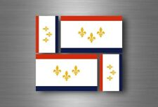 4x adesivi adesivo sticker bandiera vinyl tuning new orleans nuova usa