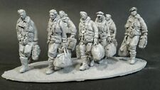 AC Models RAF Lancaster Crew 7 figures + base WW2 1/32nd Unpainted kit