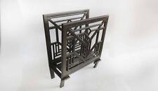 Vintage Frank Lloyd Wright Magazine Rack Art Deco Style Cast Aluminum