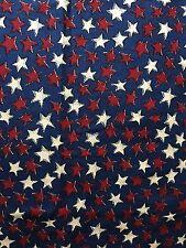 Vintage Cotton Quilt Fabric Stars Patriotic General Fabric Company BTHY