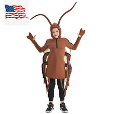 Kids Boys Roach Costume Cockroach Halloween Party Stage Outfit US Shipping