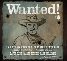Wanted! Outlaw Country Classic 75 Tracks 3 CD Set Hank Williams Marty Robbins...