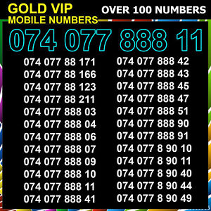 VIP Gold Mobile Number Easy Golden Platinum SIM Card Diamond Business Silver New