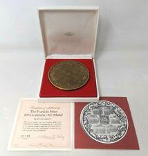 New Franklin Mint Solid Bronze 1975 Zodiac Calendar Art Medal Ernest Lauser Tt20