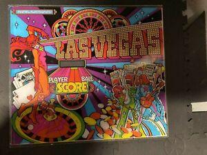 MATTEL ELECTRONICS 1978 LAS VEGAS PINBALL MACHINE Background Glass