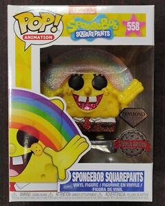 SpongeBob SquarePants - Pop! - Bob l'Eponge Rainbow n°558 Diamond Glitter - Funk