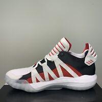 Adidas Dame 6 Damian Lillard White Scarlet Mens Size 9.5 Basketball Shoes EH2069