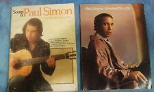 PAUL SIMON HIT SONGS & LYRICS: 2 SONG BOOKS FROM 1977 & 1978