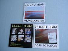 SOUND TEAM job lot of 3 promo CDs Work EP Born To Please Movie Monster Sampler