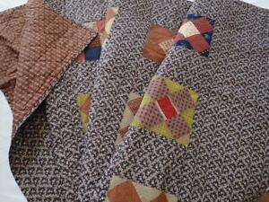 Outstanding EARLY Civil War PA Antique QUILT Fabric Treasure! 86x74