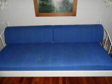 Tagesbett/Bett/Sofa Metallbett  weiß 210x96x98 cm m.Lattenrost u.Polsterauflagen