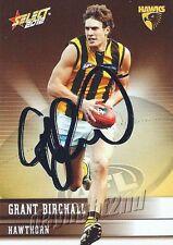✺Signed✺ 2012 HAWTHORN HAWKS AFL Card GRANT BIRCHALL