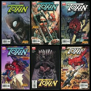 Toxin Comic Set 1-2-3-4-5-6 Lot Son of Carnage Venom Spider-Man alien symbiote