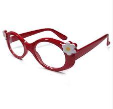 ANT Flower Frame Design Kids Fashion Glasses Eyewear -  RED