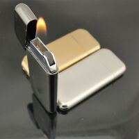 GOOD Thin Metal Cigar Cigarette Refillable Flame Butane Gas Flint Wheel Lighter