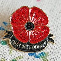 UK WW1 Victory Remembrance Day Lest We forget Red Poppy Badge 2020