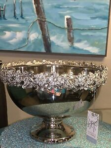 DAVID TUTERA Bowl Wine Champagne Bucket Wedding Crystal Rim Bling Sparkle Large