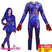 Girls Descendants 3 Evie Costume Jumpsuit Halloween Child Kids Book Week Cosplay