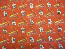 "ST LOUIS CARDINALS MLB 100% COTTON 1  YARD PIECE BRAND NEW DESIGN ""GO CARDS"""