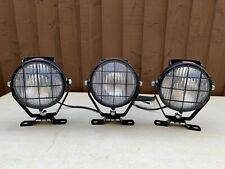 Durite Round Bulb Metal Work Flood Light with Switch Handle & Grill Cable Entry