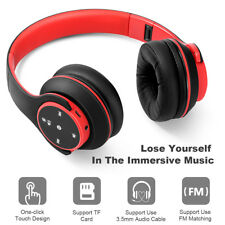 Noise Cancelling Wireless Headphones Bluetooth Earphone Headset AUX Stereo w/Mic