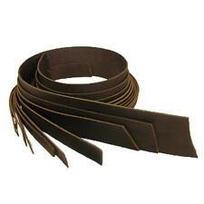 "Buffalo Veg Tan Belt Blank Leather Strip 1-1/4"" Dark Brown"