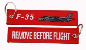 F-35A Lightning II Remove Before Flight Key Ring Luggage Tag