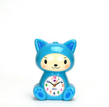 Adorable Baby in Kitty Robe Kids Musical Alarm Clock - Children Room Decoration