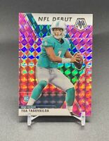 ❤️TUA TAGOVAILOA RC 2020 MOSAIC PINK DEBUT REFRACTOR ROOKIE #262 MIAMI DOLPHINS