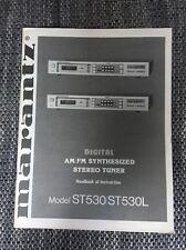 MARANTZ ST 530/ST 530l manuale di istruzioni originale st530/st530l