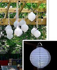 "3 Pc White 8"" Paper Chinese Lantern LED Light Wedding Decoration Hanging Party"