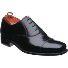 BNIB Barker 'Dermot' Oxford Hi Shine Black Leather Shoes 10 UK 44 EU G -Wide Fit