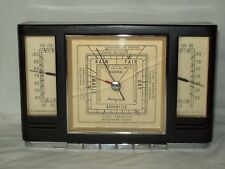 Vintage Airguide Instruments ~ Barometer / Hydrometer / Thermometer ~ Mahogany