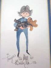 P. BUCKLEY MOSS Boy with Teddy Bear Lithograph, Framed & Signed, #661/1000, 1986