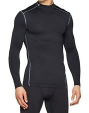 Under Armour Men Shirt Black Medium M Fitted Compression Long Sleeve $50 741