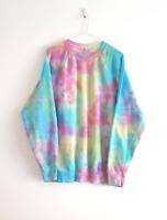 Pastel Sweater Tie Dye Sweatshirt Unisex Jumper 90's Grunge Summer Festival