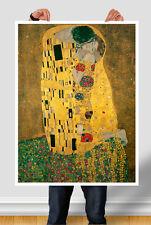POSTER GIGANTE Il bacio di Klimt su carta opaca, carta FOTOGRAFICA o TELA CANVAS