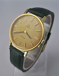 BEAUTY! Man's 1975 OMEGA Geneve Manual Wind Cal 625 Gold Plated, V. Good Cond.