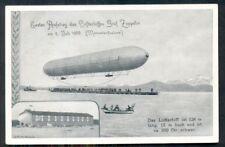 Germany, 1937, Memorial postcard of 1st Zeppelin Flight 7/2/1900, Vf