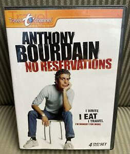 Anthony Bourdain: No Reservations (DVD, 2007, 4-Disc Set) w/ Insert Exc OOP