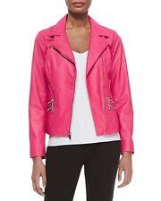 Neiman Marcus Pink Moto Leather Jacket