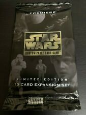 NEW Decipher Star Wars CCG Premiere Limited BB Factory Sealed Booster pack