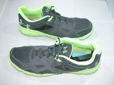 Men's Under Armour Size 15 Grey/Neon Green Running/Cross Training Shoes