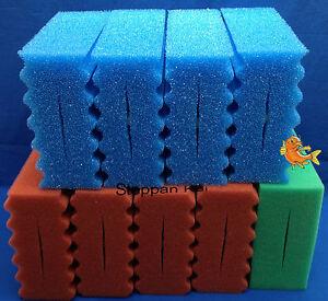 9  x  Filterschwamm gewellt passend für Oase BioSmart 20000 + 30000 + 36000  Koi
