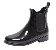 Lack Stiefelette Gummistiefel Chelsea Jelly Boots Reit Regen Stiefel Schuhe