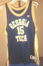 Georgia Tech Yellow Jackets NCAA Champion Blue #15 size 48 Basketball Jersey