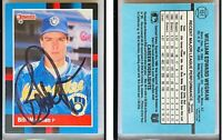 Bill Wegman Signed 1988 Donruss #151 Card Milwaukee Brewers Auto Autograph