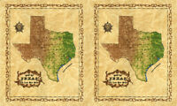 "Moda Quilt Fabric Best of Texas Panel 2 Maps 23"" x 44"" by Sara Khammash 11261 12"