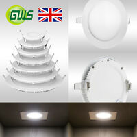 LED Recessed Flush Mounted Ceiling Slim Panel DownLight Round Square Top Quality